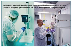 From HPLC methods development to semi-solids characterization, Aztech Sciences supports preclinical to life cycle management sample analytics.