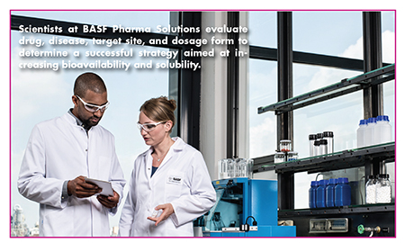 Scientists at BASF Pharma Solutions evaluate drug, disease, target site, and dosage form to determine a successful strategy aimed at increasing bioavailability and solubility.