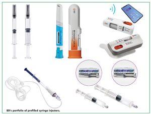 BD's portfolio of prefilled syringe injectors.