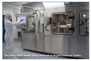 The Vanrx SA25 Aseptic Filling Workcell at Singota Solutions' facility.