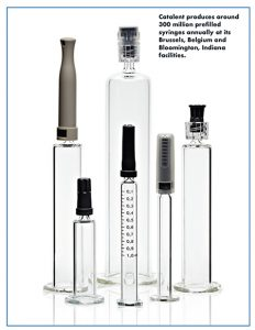 Catalent produces around 300 million prefilled syringes annually at its Brussels, Belgium and Bloomington, Indiana facilities.