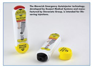 The Maverick Emergency Autoinjector technology, developed by Duoject Medical Systems and manufactured by Stevanato Group, is intended for lifesaving injections.